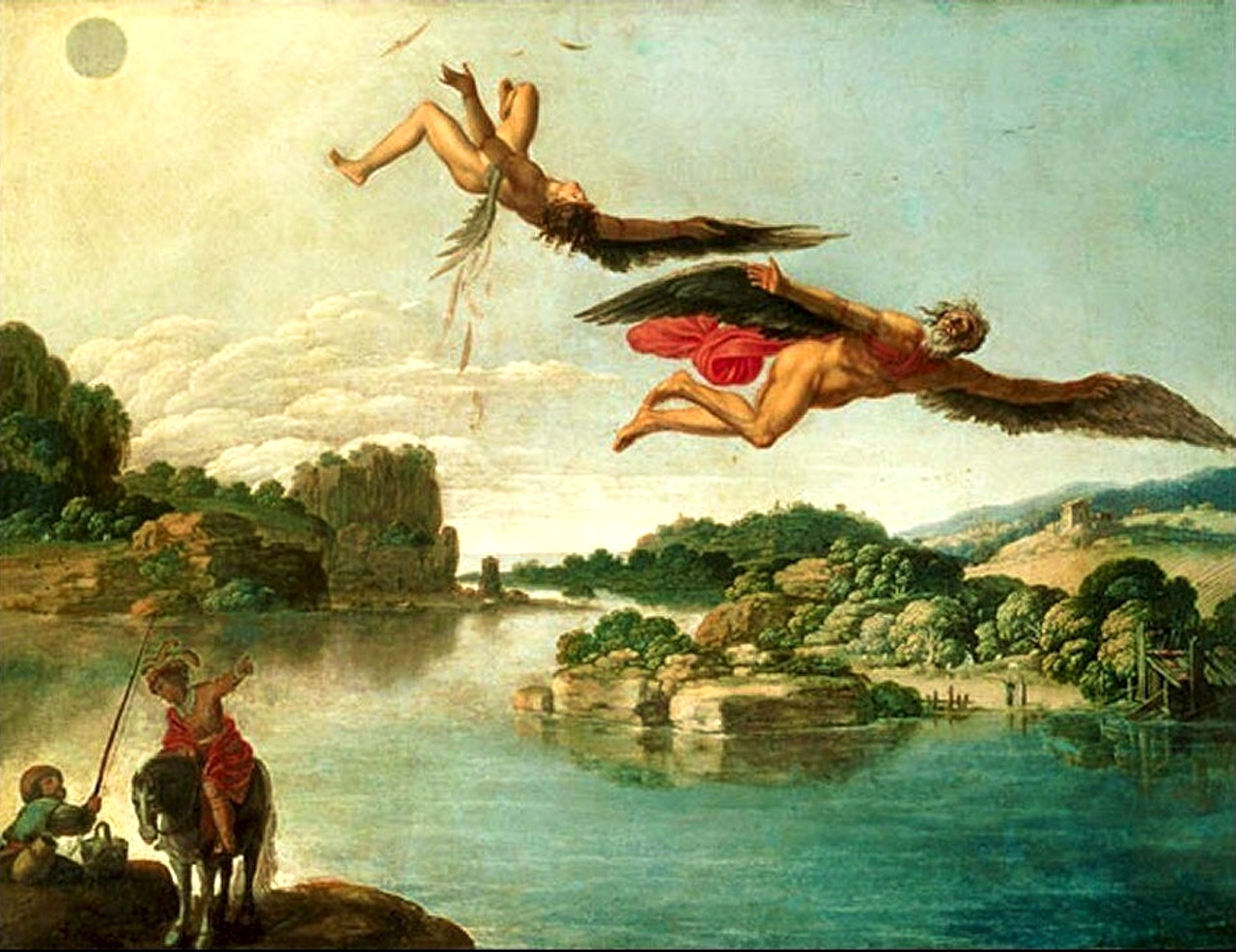 tragic fall of icarus This tragic theme of failure at the hands of hubris contains similarities to that of phaëthon bruegel's landscape with the fall of icarus.