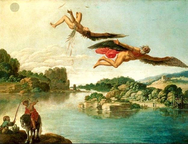 נפילת איקרוס. ציור של Carlo Saraceni למקור (לחצו על התמונה)