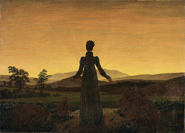 Woman Before the Rising Son Caspar David Friedrich 1818 to 1820