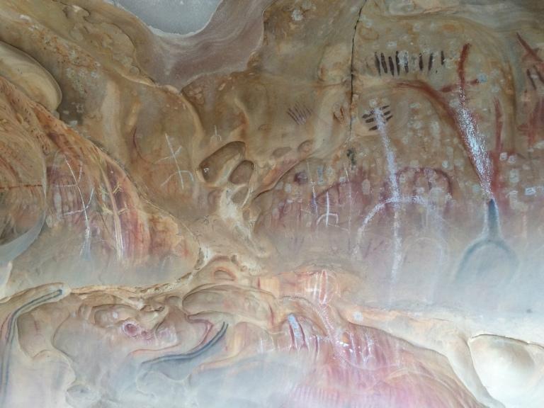 Flinders rock painting